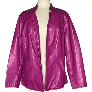 Skyes The Limit Fuscia Pink Faux Leather Sz 16W